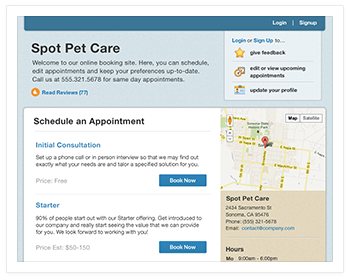 Pet Grooming Scheduling Software by Store Vantage