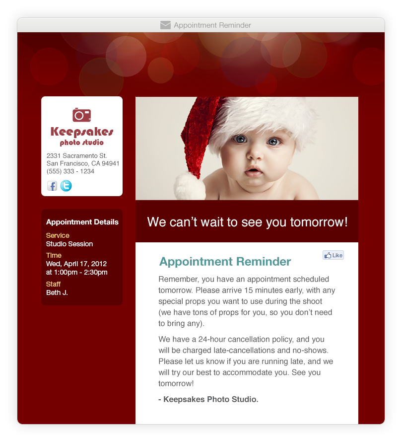 Appointment Reminder Software - Red